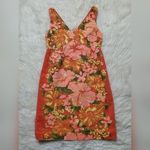 Tracy Feith Dresses - Tracy Feith for Target Orange Floral Fitted Dress